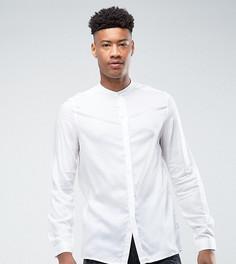 Прозрачная рубашка классического кроя с воротником-стойкой ASOS TALL - Белый