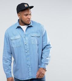 Синяя оверсайз-рубашка в винтажном стиле ASOS PLUS - Синий