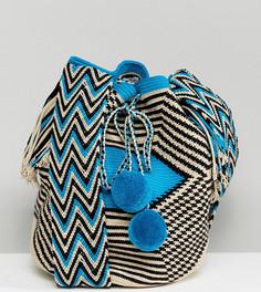 Синяя сумка Jardin Del Cielo Wayuu - Синий