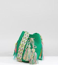 Зеленая маленькая сумка с принтом Jardin Del Cielo - Мульти