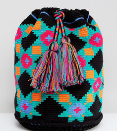 Тканый рюкзак Jardin Del Cielo Wayuu - Синий
