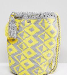 Серо-желтый тканый рюкзак Jardin Del Cielo Wayuu - Мульти