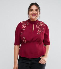 Блузка с вышивкой ASOS CURVE - Красный