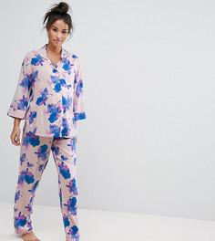 Пижама с синим цветочным принтом ASOS Maternity - Мульти