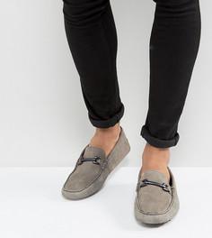 Серые замшевые мокасины для широкой стопы ASOS - Серый