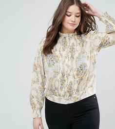 Блузка с цветочным принтом в винтажном стиле ASOS CURVE - Мульти