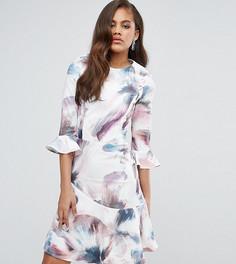 Короткое приталенное платье с принтом Little Mistress Tall - Мульти