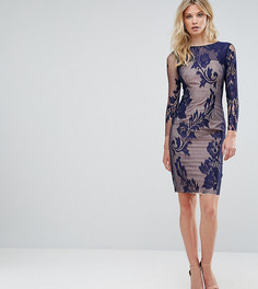 Сетчатое платье-футляр с отделкой Little Mistress Tall - Темно-синий