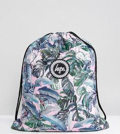 Эксклюзивный рюкзак с затягивающимся шнурком и пальмовым принтом Hype - Мульти