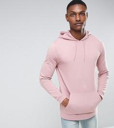 Розовый удлиненный худи ASOS TALL - Розовый