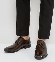Ботинки для широкой стопы с отделкой ASOS - Коричневый