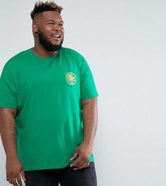 Зеленая футболка с принтом Jacamo PLUS - Зеленый