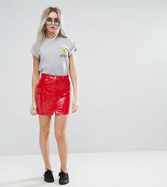 Красная джинсовая мини-юбка ASOS PETITE - Красный