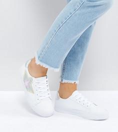 Кроссовки для широкой стопы на шнуровке ASOS DARKNESS - Белый