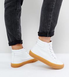 Высокие кеды на шнуровке для широкой стопы ASOS DOLLAR BILL - Белый