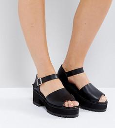 Босоножки на каблуке для широкой стопы ASOS TAKE IT BACK - Черный
