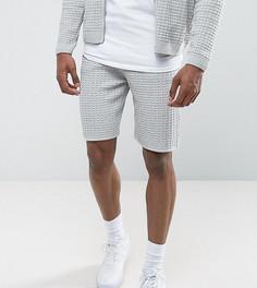 Бледно-серые фактурные шорты ASOS TALL - Серый