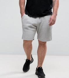Бледно-серые фактурные шорты ASOS PLUS - Серый