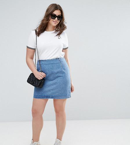 Синяя джинсовая мини-юбка ASOS CURVE - Синий