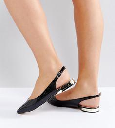 Туфли на плоской подошве для широкой стопы Faith - Черный