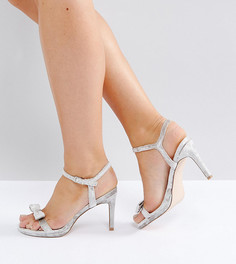 Бархатные босоножки на каблуке для широкой стопы Faith Dodo - Серый