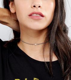 Ожерелье-чокер с кристаллами Swarovski от Regal Rose Seduce - Серебряный