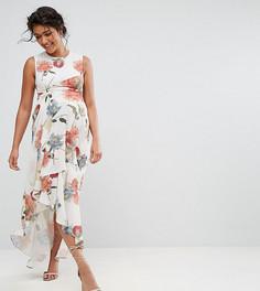Платье макси с принтом и оборкой Hope & Ivy Maternity - Мульти