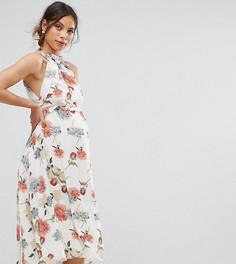 Платье с принтом и оборками Hope & Ivy Maternity - Мульти
