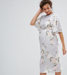 Платье миди в стиле кимоно с принтом Hope & Ivy Maternity - Мульти