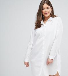 Хлопковое платье-рубашка ASOS CURVE - Белый