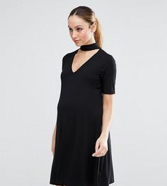 Платье с высоким воротом ASOS Maternity - Черный