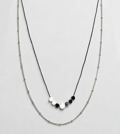 Набор из 2 ожерелий DesignB эксклюзивно для ASOS - Серебряный