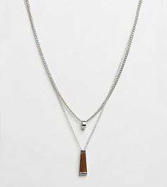 Набор из 2 ожерелий с подвесками DesignB эксклюзивно для ASOS - Серебряный