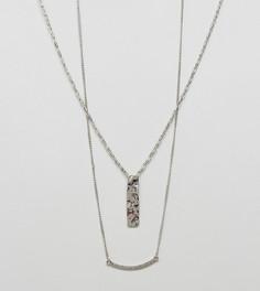 2 ожерелья с подвесками DesignB эксклюзивно для ASOS - Серебряный