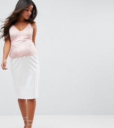 Платье на бретельках с кружевным топом ASOS Maternity - Белый