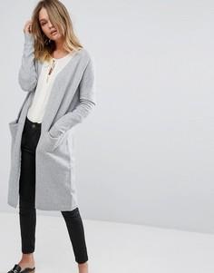 Удлиненный кардиган Vero Moda - Серый