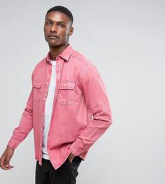 Выбеленная розовая рубашка навыпуск ASOS TALL - Розовый