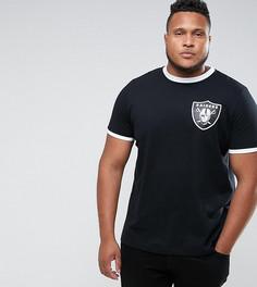 Футболка Majestic PLUS Raiders Ringer - Черный