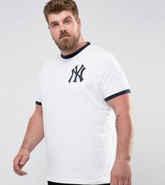 Футболка с контрастной отделкой Majestic PLUS Yankees - Белый