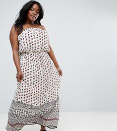 Платье макси бандо с принтом Diya - Мульти