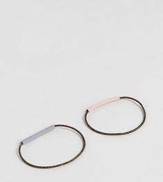 2 резинки для волос ограниченной серии с металлическими планками - Мульти Asos
