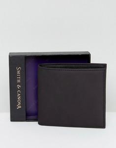 Классический кожаный бумажник Smith And Canova - Черный