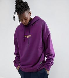 Фиолетовый свободный худи с логотипом Sixth June - Фиолетовый