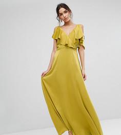 Платье макси с глубоким вырезом True Violet - Зеленый