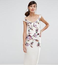 Платье-футляр миди с цветочным принтом True Violet - Мульти