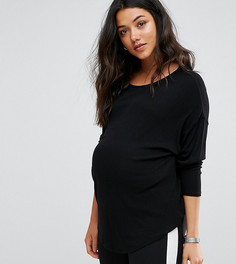 Свободная футболка ASOS Maternity - Черный