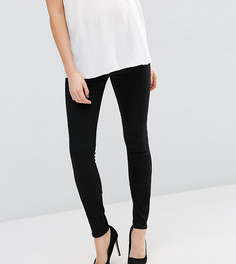 Черные джинсы скинни с поясом под животиком ASOS Maternity TALL - Черный