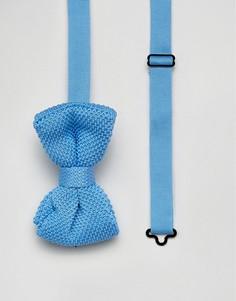 Вязаный галстук-бабочка 7X - Синий