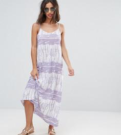 Платье макси с принтом тай-дай ASOS PETITE - Фиолетовый