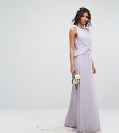 Платье макси с оборками TFNC WEDDING - Фиолетовый